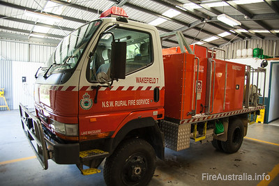 NSWRFS Wakefield 7 Tanker.  Wakefield Brigade, Lake Macquarie District, The Lakes Zone. Built December 2008 by Alexander Perrie  Photo December 2013