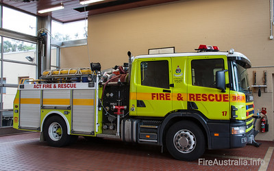 ACT Fire Rescue - Pumper 17 Ainslie 2nd Pump