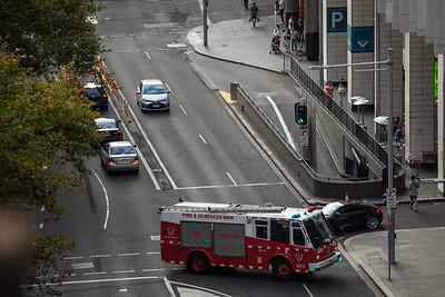 FRNSW SEV STP39 Responding from City of Sydney Station