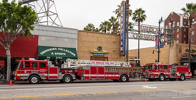 LAFD Truck 27 and Engine 227 in Hollywood