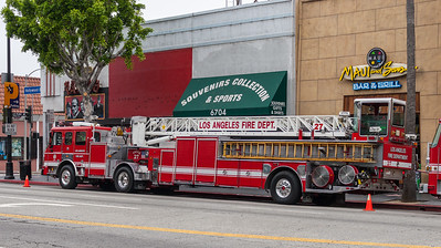 LAFD Truck 27 in Hollywood