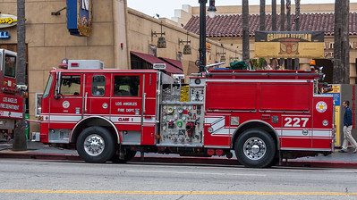 LAFD Engine 227 in Hollywood
