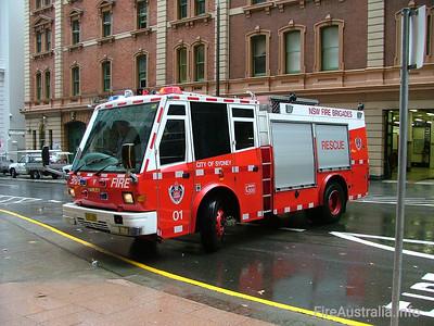 FRNSW Rescue 1 - City of Sydney July 2007
