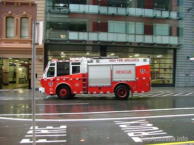 FRNSW Rescue 1 - City of Sydney July 2006