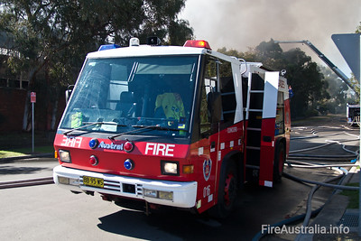 Pump 16 Concord working hard at a Structure Fire in Silverwater