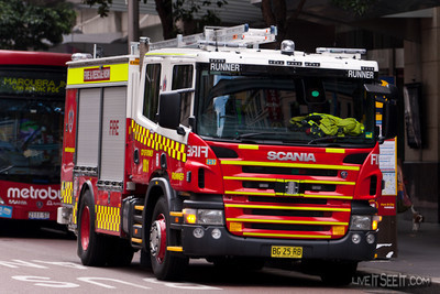 FRNSW Runner 1 New Scania A new Scania Pump for Runner 1, Coty of Sydney Station.