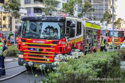 Zetland 3rd Alarm - Bins impacting Building