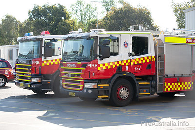 FRNSW Pumpers at Training College