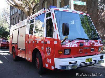 NSWFB Pump 4 Darlinghurst