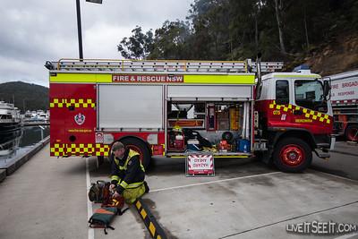 FRNSW Rescue appliance from Berrowra