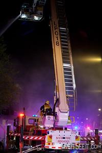 FRNSW Ladder Platform 18 Glebe at Work