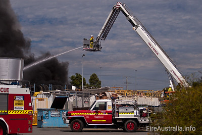 Perth CLP at work on Tyre Plus Fire