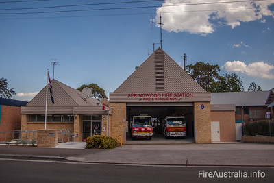 FRNSW 445 Springwood Fire Station.  Photo December 2013