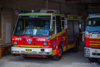 FRNSW 445 Springwood appliances.  Photo December 2013