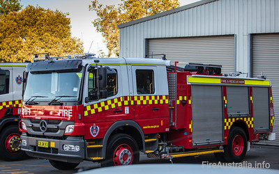 Refurbished Class 2 Pumper, formerly on an Isuzu Cab Chassis, moved onto the Mercedes Cab Chassis as part of refurb