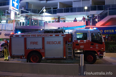 FRNSW 402 Nelson Bay crews at an incident in the town
