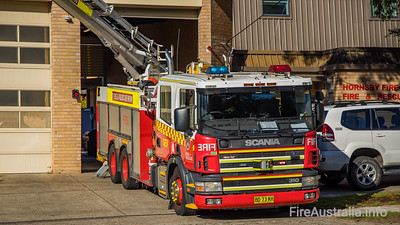 FRNSW Spare Aerial Pumper as AP50 Hornsby