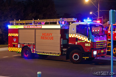 R63 Blacktown at Staging for the Log Cabin Fire in Penrith