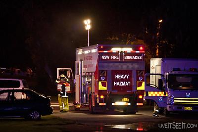 Heavy Hazmat 77 St Marys at the Log Cabin Motel Fire in Penrith