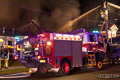 T78 Dunheved at the Log Cabin Fire in Penrith