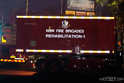 The rehabiliation POD arrives to assist Firefighters