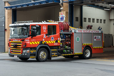 FRV P35A on the apron at Windsor Fire Station
