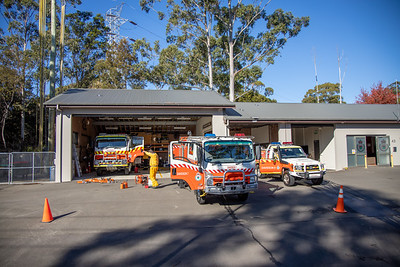 NSW RFS Davidson Brigade 2019 Firefighting appliances at station