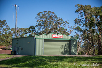 NSWRFS Dora Creek Fire Station.  Lake Macquarie District, The Lakes Zone.   Photo December 2013
