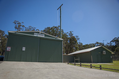NSWRFS Killingworth Fire Station.  Lake Macquarie District, The Lakes Zone.   Photo December 2013