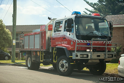 NSWRFS Sandy Point 1B Tanker, at a Hazard Reduction Burn - August 2013