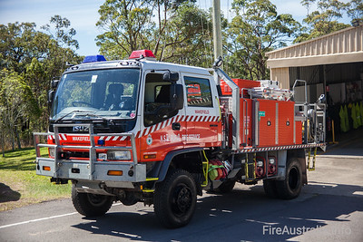 NSWRFS Wakefield 1 Tanker.  Wakefield Brigade, Lake Macquarie District, The Lakes Zone. Built November 2002 by Alexander Perrie  Photo December 2013