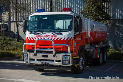 NSWRFS Warringah HQ Bulk Water Tanker  Built by Kuipers Engineering 12/2011 Body no. KE-M 17826 Body Model No. 13SIG2011B