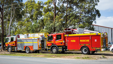 New Pumpers for QFRS and CFA at Bell Fire in Queensland