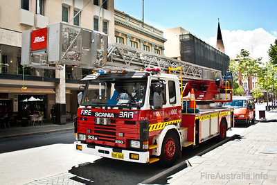 WA Fire & Rescue Spare Ladders. This appliance is the spare aerial for WA Fire & Rescue, replacing the Ladder Platforms at Perth or Fremantle when needed