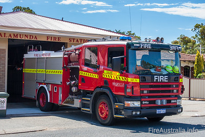 This Scania Medium Pumper is a spare appliance for the Metro region of Perth.