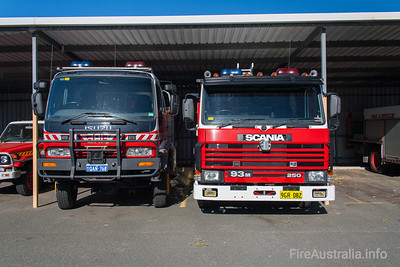 WA FRS vehicles at Workshops