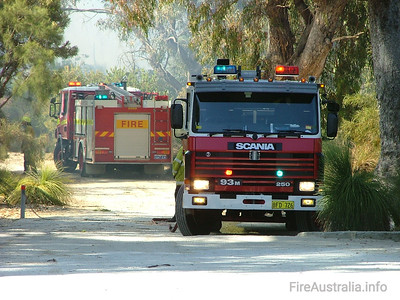 WA FRS Duncraig Duncraig's Heavy Pump at a scrub fire in North Beach. Duncraig station was formerly located in and known as Balcatta