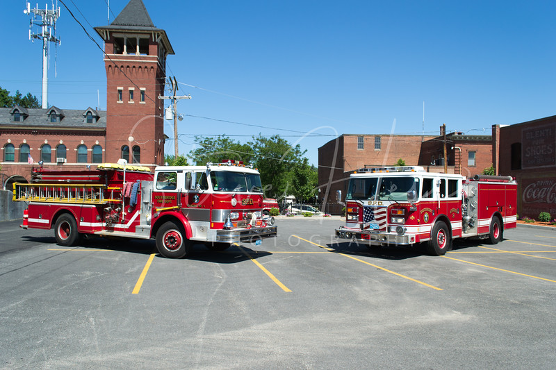 Southbridge Engine 1 & Engine 3<br /> 1981 Hahn<br /> 2008 Pierce Contender