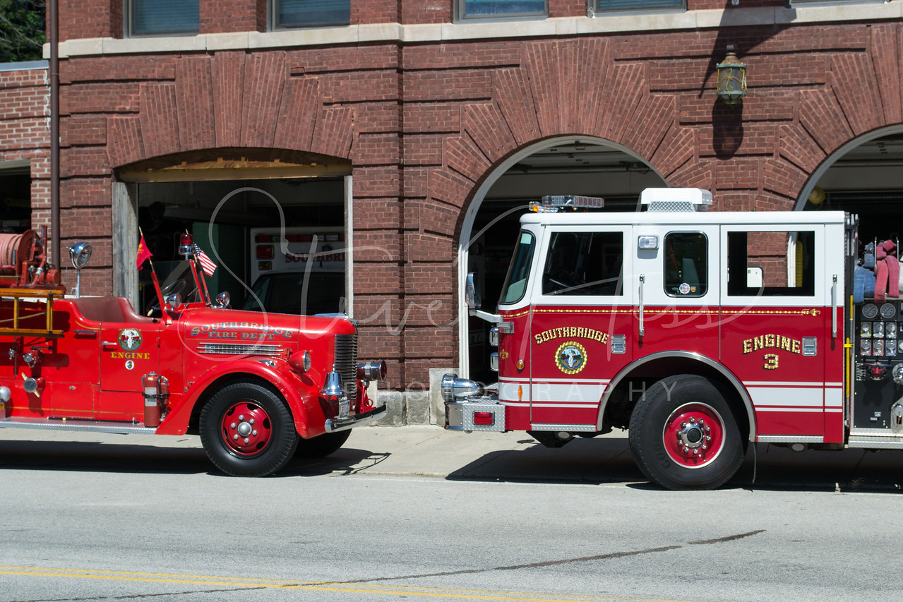 Southbridge Engine 3 Retired & Current <br /> 1941 Pirsch<br /> 2008 Pierce Contender
