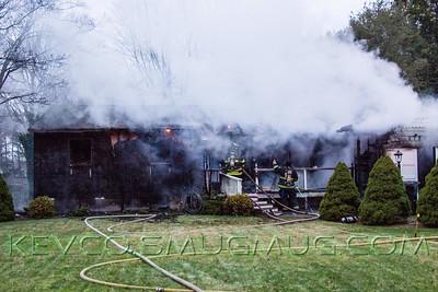 Working House Fire Montauk Highway, Brookhaven. Jan 9, 2015