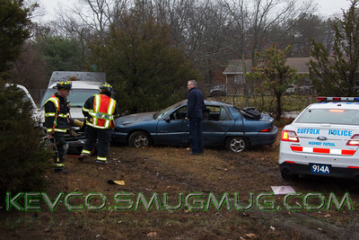 Auto Accident with Overturn, E/B Sunrise Highway @ Railroad Ave Center Moriches December 17, 2014