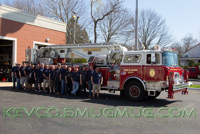 Changing of the Tower Ladder in Center Moriches 4-18-2015