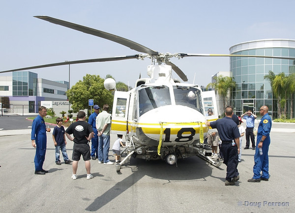 Fire Service day 2006 at LA County Fire Station 118, Copter 18