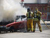 Car Fire demonstration, LA County Fire Department Fires Service Day at Fire Station 129 on May 3, 2008