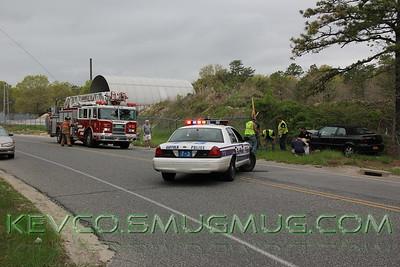 MVA Car vs Pole Moriches Middle Island Road and Cranford
