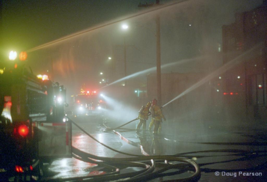 Nighttime Fire scene