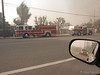 A picture of Fire Engines and a patrol truck taken at the Sayre Fire