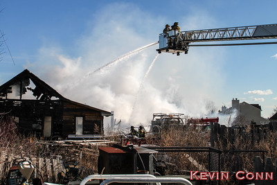Barn Fire, Twomey Ave, Calverton, Jan 28, 2017
