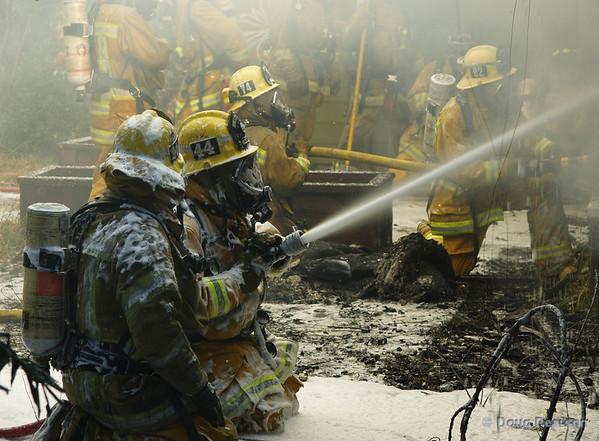 La County Fire Department training, La Canada, Saturday Feb 3rd, 2007