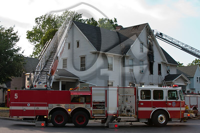 Rochester firefighters operate at the scene of a working fire on Child St.